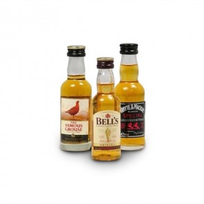 Miniature Scotch Whisky - 3 pack